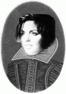 Composite image of Shakespeare and Liza Minnelli
