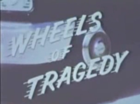 Opening titles from the 1963 film Wheels of Tragedy