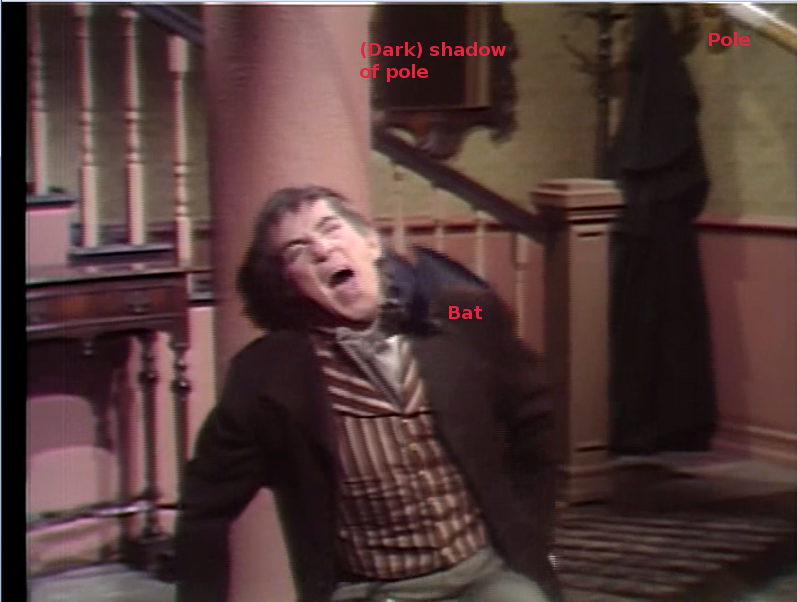 Bat (on a pole) attacks Barnabas Collins