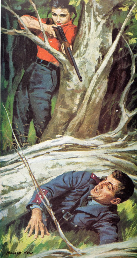 "Illustration from 1959 story ""The Mountain Murderess"""