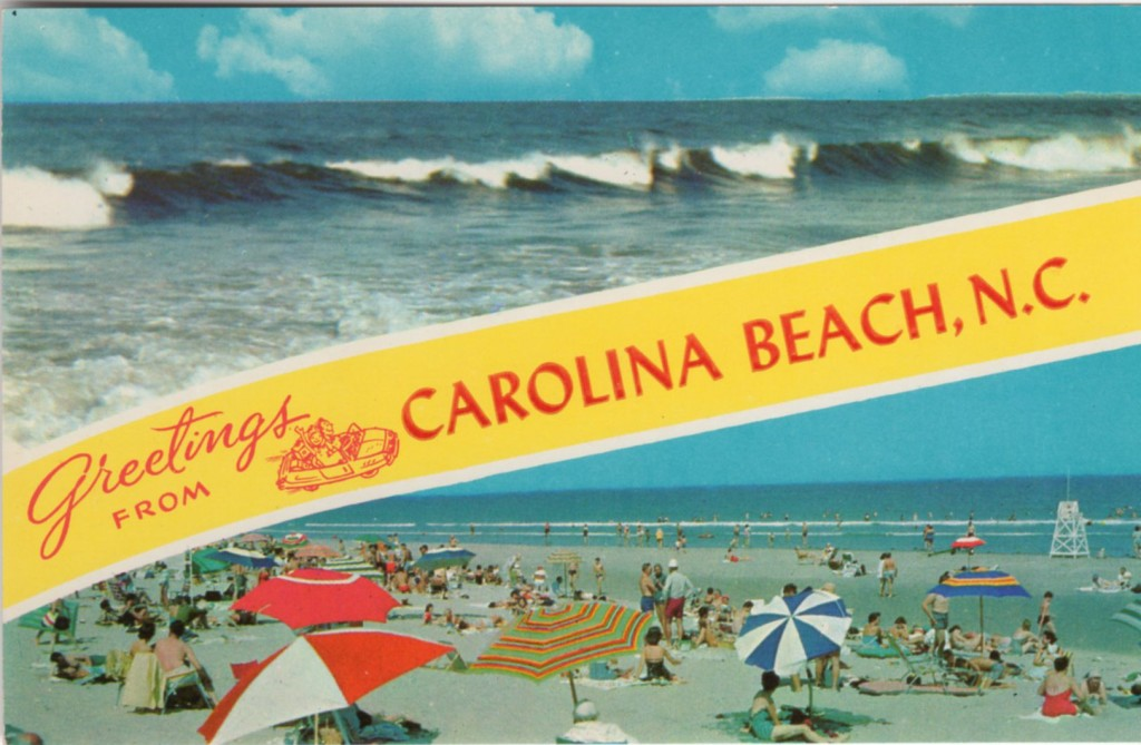 Postcard showing Carolina Beach, NC