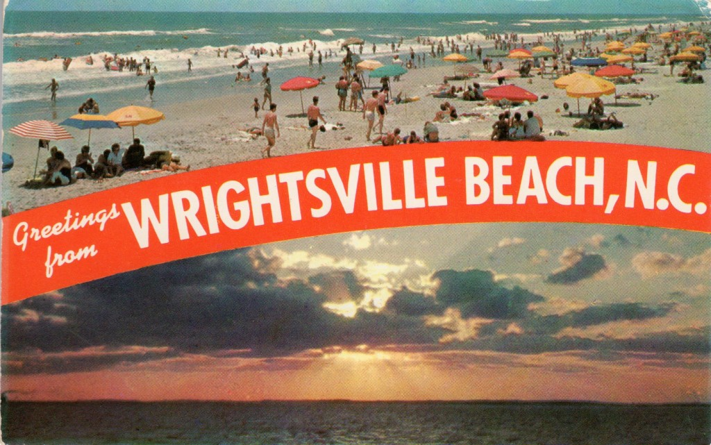 Postcard showing Wrightsville Beach, NC