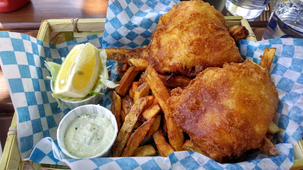 Fish and chips from Comptoir 21