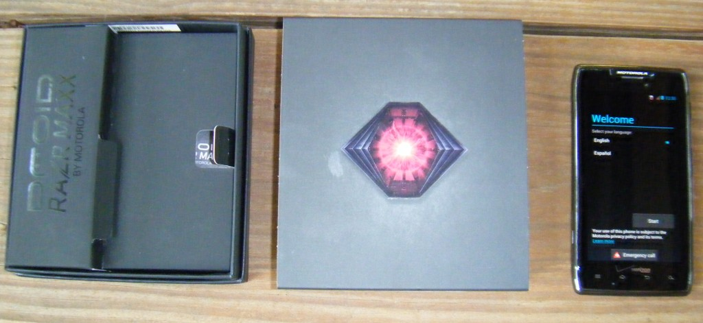 Droid Razr Maxx and original box