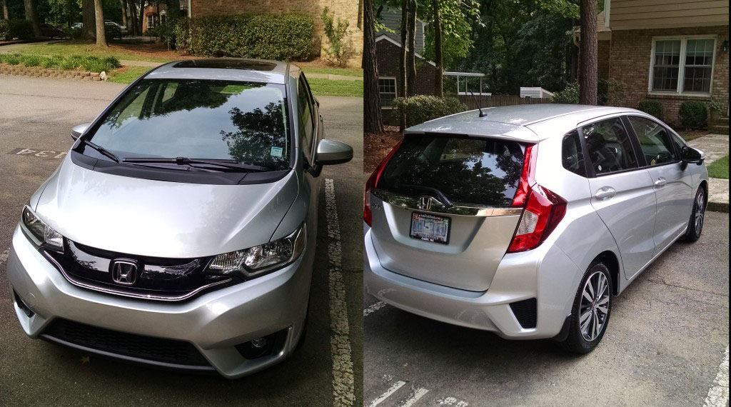 2017 Honda Fit Ex In Alabaster Silver Back And Front Views